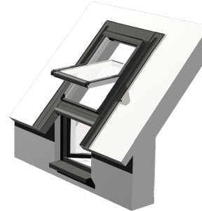Okno kolankowe PVC